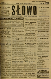 Słowo, 1923, R. 2, nr 188