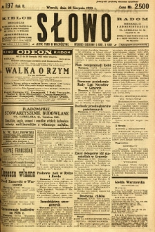 Słowo, 1923, R. 2, nr 197