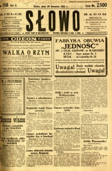 Słowo, 1923, R. 2, nr 198