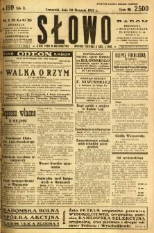 Słowo, 1923, R. 2, nr 199