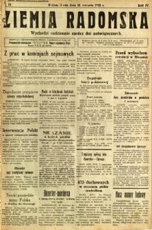 Ziemia Radomska, 1931, R. 4, nr 10
