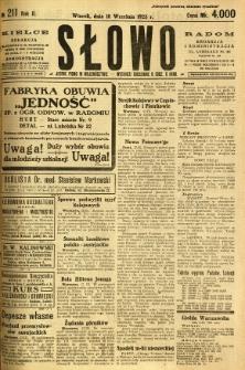 Słowo, 1923, R. 2, nr 211