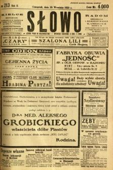 Słowo, 1923, R. 2, nr 213