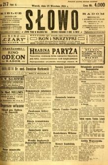 Słowo, 1923, R. 2, nr 217