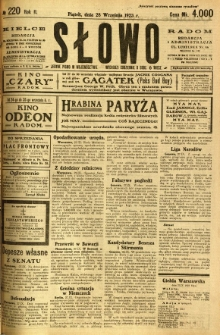 Słowo, 1923, R. 2, nr 220