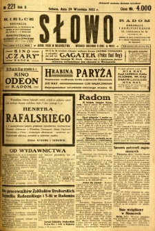 Słowo, 1923, R. 2, nr 221