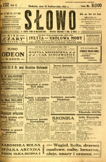 Słowo, 1923, R. 2, nr 232