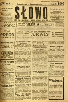 Słowo, 1923, R. 2, nr 235