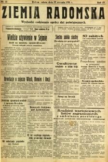 Ziemia Radomska, 1931, R. 4, nr 13