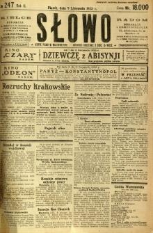 Słowo, 1923, R. 2, nr 247
