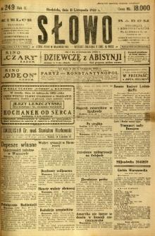 Słowo, 1923, R. 2, nr 249