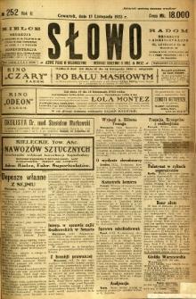 Słowo, 1923, R. 2, nr 252