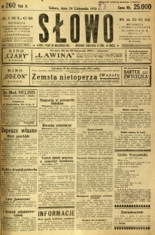 Słowo, 1923, R. 2, nr 260