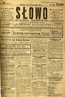 Słowo, 1923, R. 2, nr 261