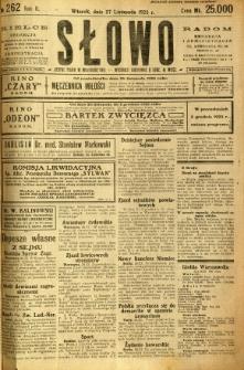 Słowo, 1923, R. 2, nr 262