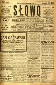 Słowo, 1923, R. 2, nr 265