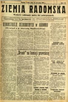 Ziemia Radomska, 1931, R. 4, nr 16