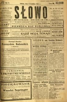 Słowo, 1923, R. 2, nr 272