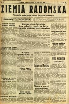 Ziemia Radomska, 1931, R. 4, nr 17