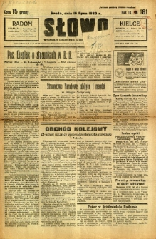 Słowo, 1930. R. 9, nr 161