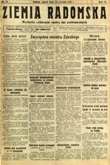 Ziemia Radomska, 1931, R. 4, nr 18