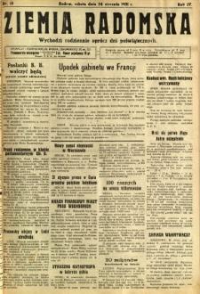 Ziemia Radomska, 1931, R. 4, nr 19