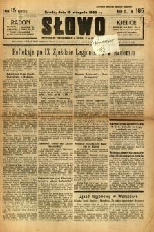 Słowo, 1930. R. 9, nr 185