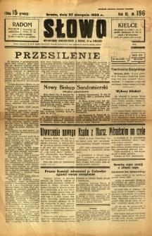 Słowo, 1930. R. 9, nr 196