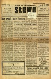 Słowo, 1930. R. 9, nr 207