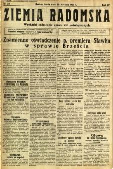Ziemia Radomska, 1931, R. 4, nr 22