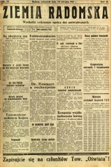 Ziemia Radomska, 1931, R. 4, nr 23