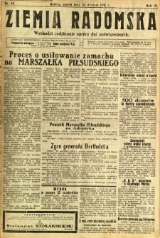 Ziemia Radomska, 1931, R. 4, nr 24