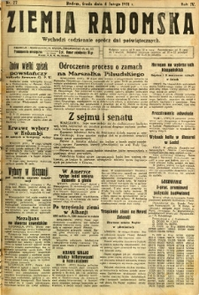 Ziemia Radomska, 1931, R. 4, nr 27