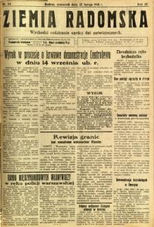 Ziemia Radomska, 1931, R. 4, nr 34