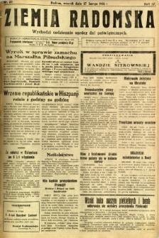 Ziemia Radomska, 1931, R. 4, nr 38
