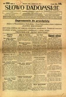 Słowo Radomskie, 1922, R. 1, nr 138
