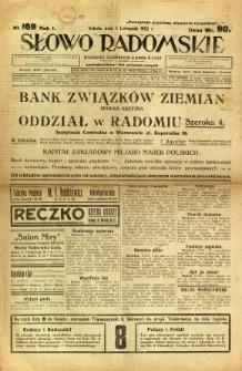 Słowo Radomskie, 1922, R. 1, nr 169