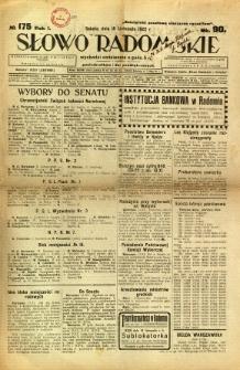 Słowo Radomskie, 1922, R. 1, nr 175