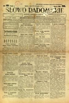 Słowo Radomskie, 1922, R. 1, nr 181