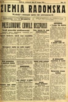 Ziemia Radomska, 1931, R. 4, nr 40