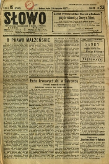 Słowo, 1927, R. 6, nr 23