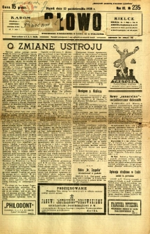 Słowo, 1928, R. 7, nr 235