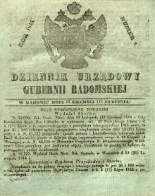 Dziennik Urzędowy Gubernii Radomskiej, 1845, nr 2