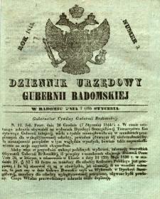Dziennik Urzędowy Gubernii Radomskiej, 1845, nr 3