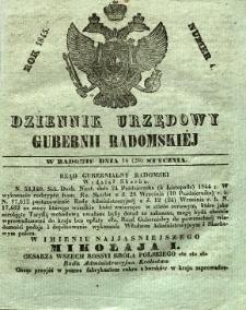Dziennik Urzędowy Gubernii Radomskiej, 1845, nr 4