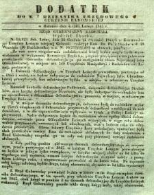 Dziennik Urzędowy Gubernii Radomskiej, 1845, nr 7, dod. I