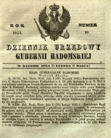 Dziennik Urzędowy Gubernii Radomskiej, 1845, nr 10