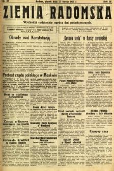 Ziemia Radomska, 1931, R. 4, nr 47