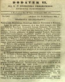 Dziennik Urzędowy Gubernii Radomskiej, 1845, nr 31, dod. VI