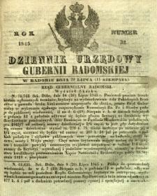 Dziennik Urzędowy Gubernii Radomskiej, 1845, nr 32